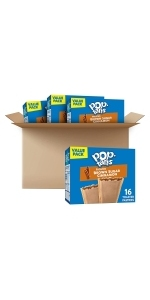 Pop-Tarts Toaster Pastries, Frosted Brown Sugar Cinnamon, (64 Toaster Pastries)