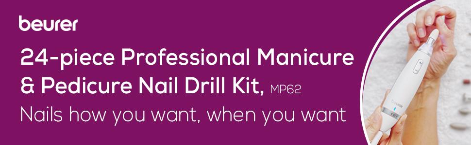 acrylic powder; nail file; pedicure kit; drill bit set; acrylic nails; dip powder nail kit starter