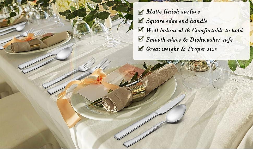 65 Piece silverware set  with serving  utensils