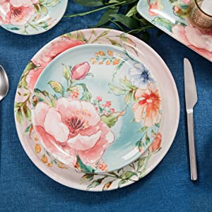 margret garden dinner plates salad plates