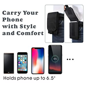 Holds phone up to 6.5inch