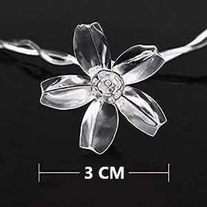 Silicone Flower, Blossom Flower, 16LED String Light, String Light, Home Decor