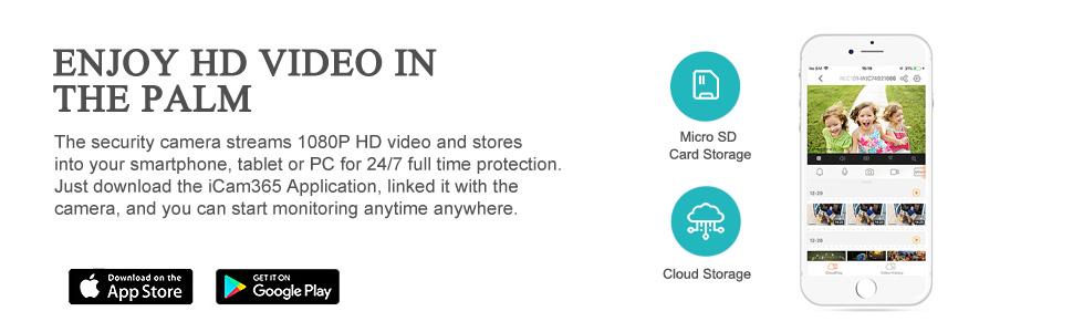 The Security Camera streams 1080p video cameras outdoor , monitor outdoor camera cloud storage