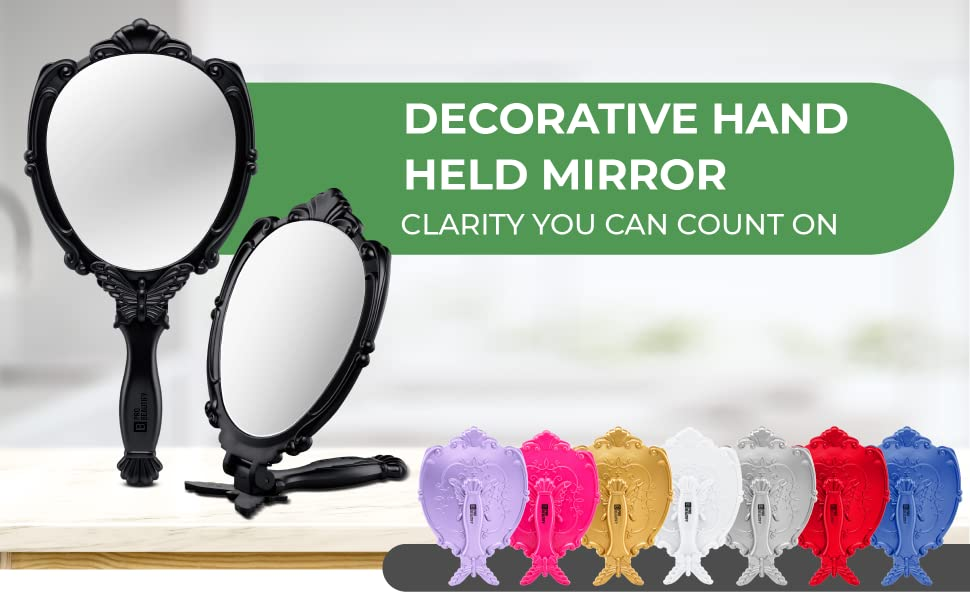 Decorative Hand Held Mirror, Clarity You Can Count On