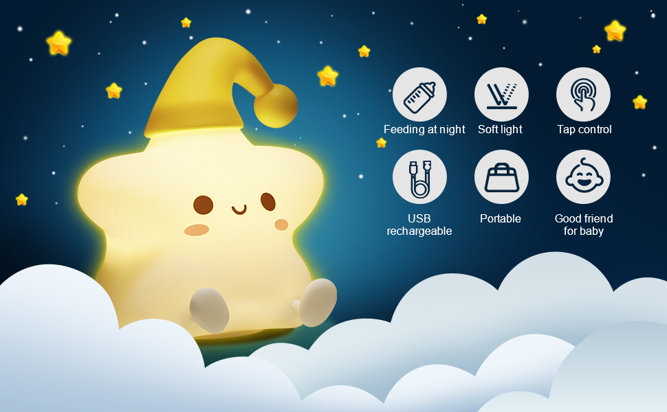 cute night light for kids portable night light for kids baby night light color changing lamp