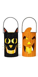 Halloween Metal Candle Lantern