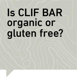 Clif Bar, Is clif bar organic or gluten free?
