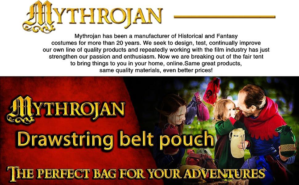 Mythrojan Drawstring Belt Pouch