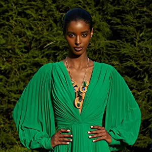 statement necklace fashion model designer apparel accessories necklace necklaces tassels rhinestones