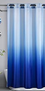 Lagute ombre shower curtain Blue
