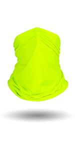 Fluorescent-Yellow neck gaiter