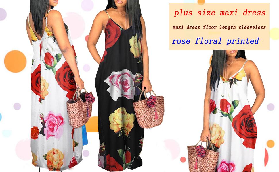 Plus Size Maxi Dresses Sundress