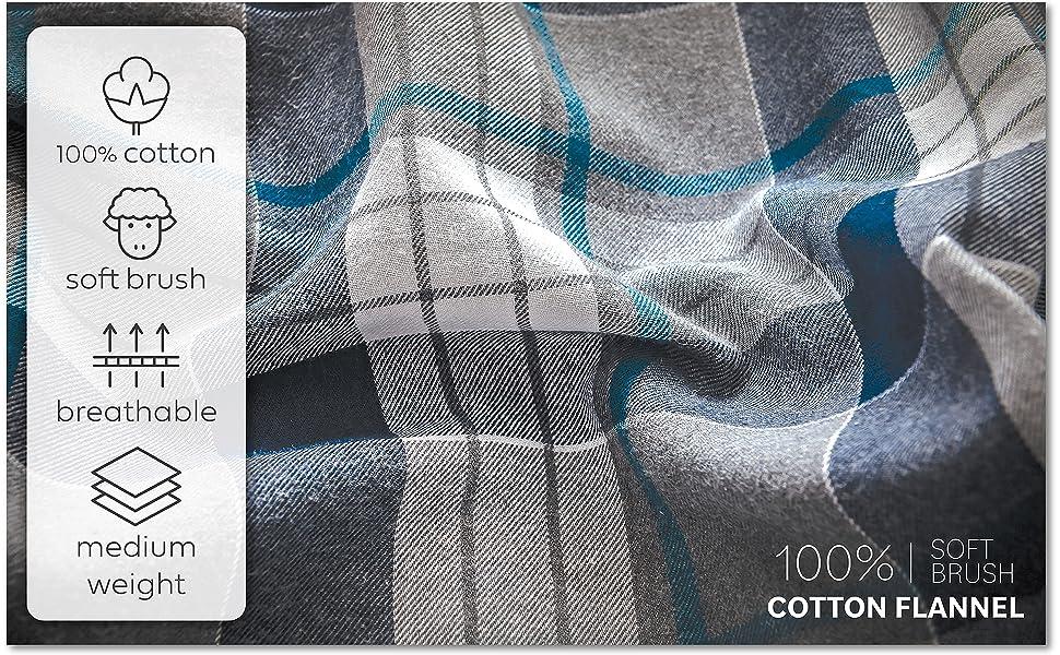 100 PERCENT COTTON FLANNEL