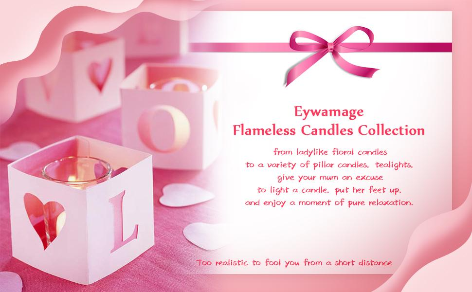 Eywamage flameless candles for gifts