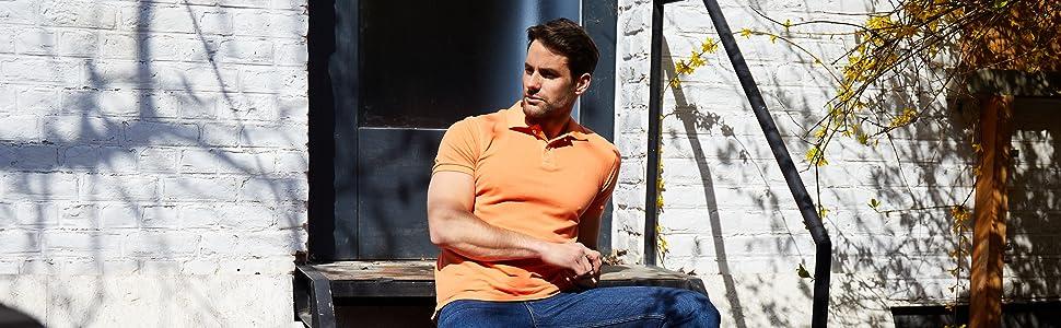 jack stuart mens polo shirts short sleeves