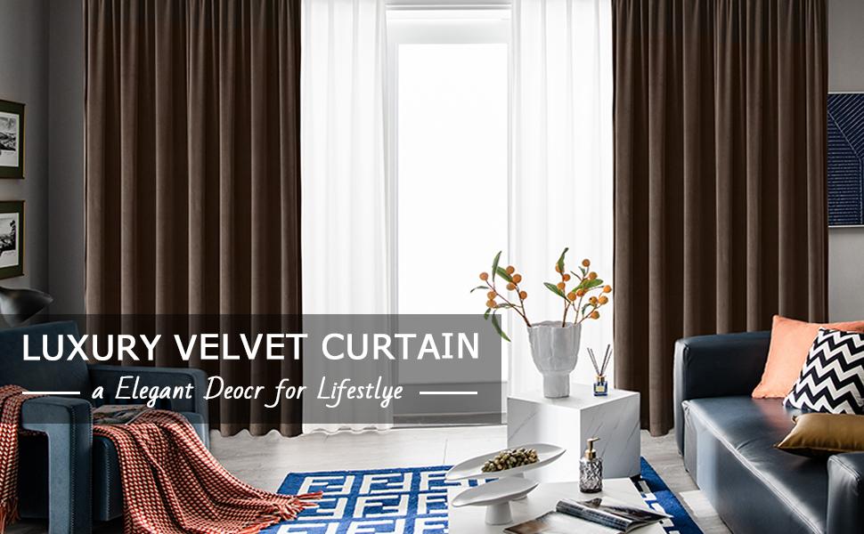 Velvet curtain for living room blush velvet luxury curtains for bedroom