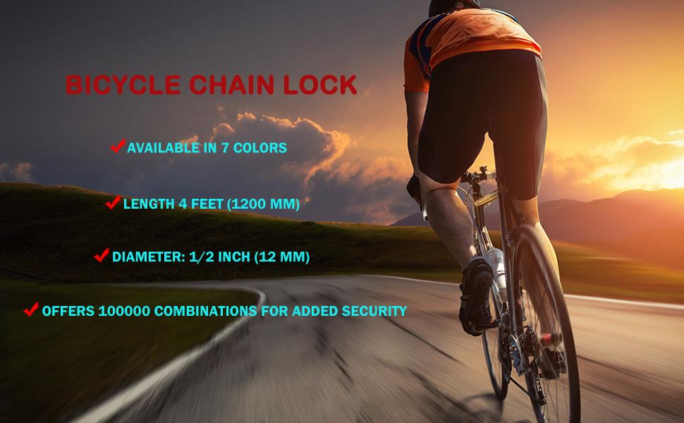 Bike Lock Bicycle Chain Lock