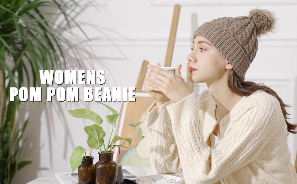 Womenamp;#39;s Pom Pom Beanie