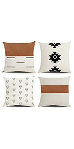 leather pillow covers