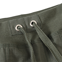 Well-designed elastic waistband with drawstring, flexible and free adjustment.