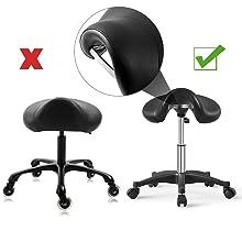rolling saddle stool