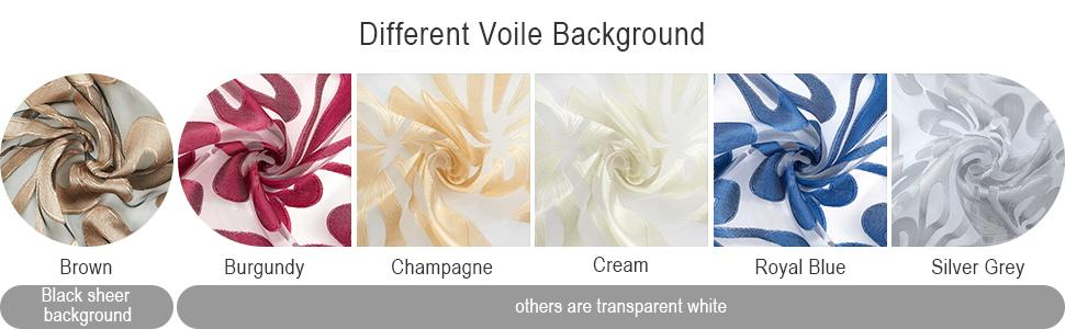 different voile background