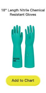 18 Length Nitrile Chemical Resistant Gloves