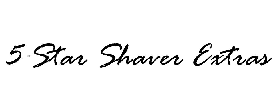 shaver extras