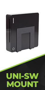 HIDEit Universal Small and Wide Wall Mount designed to store mini computers, routers and modems