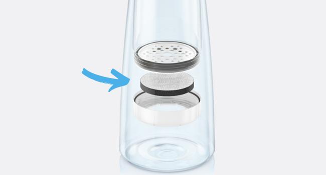 bouteille filtrante brita microdisc