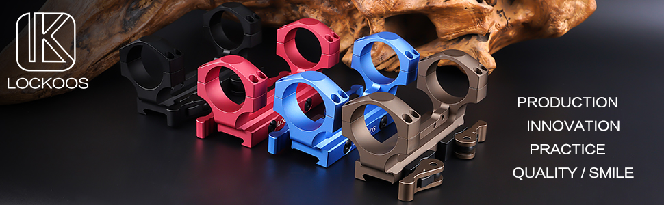 Four styles of 34 mm scope mount