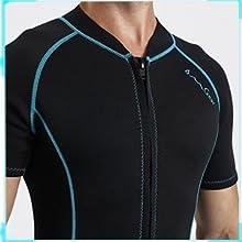OMGear adult short sleeve one piece wetsuit neoprene 3mm