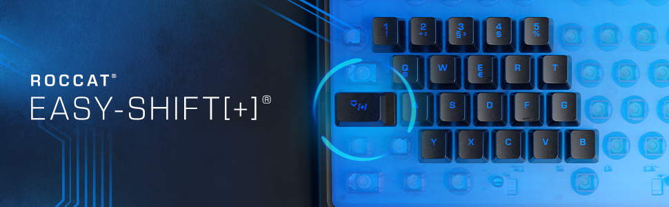 ROCCAT Keyboard with RGB Lightning and Easy Shift Key