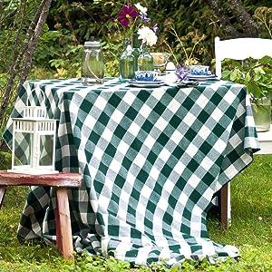 Plaid Tablecloth Square - Buffalo Check Tablecloth Square - Buffalo Plaid Table Cloth Square