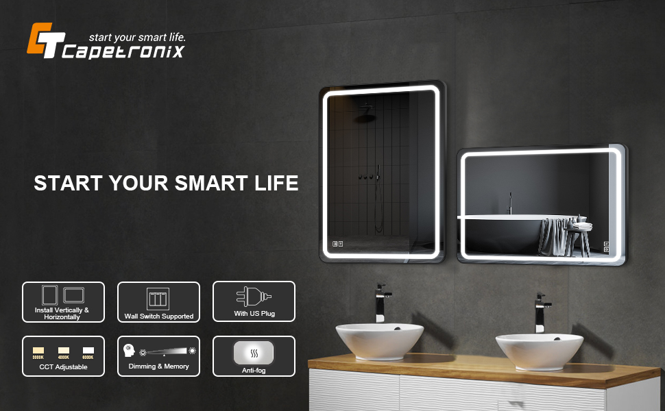 Dimmable Lights Mirror
