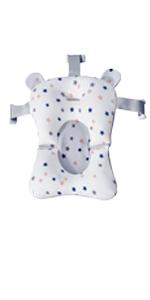 Floating Star Pattern Baby Bath Support Cushion Bath Pillow Bath Mat Pad Shower Mesh