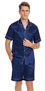 men short sleeve pajama sets