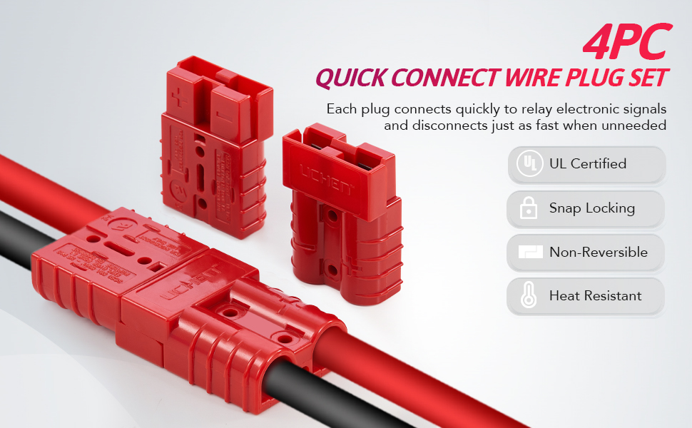 Battery Quick Connect Disconnect Set