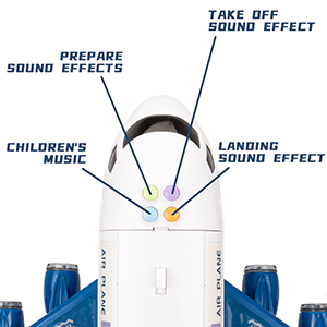 music airplane toy
