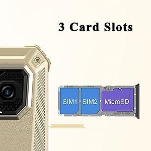 3 card slots rugged phones