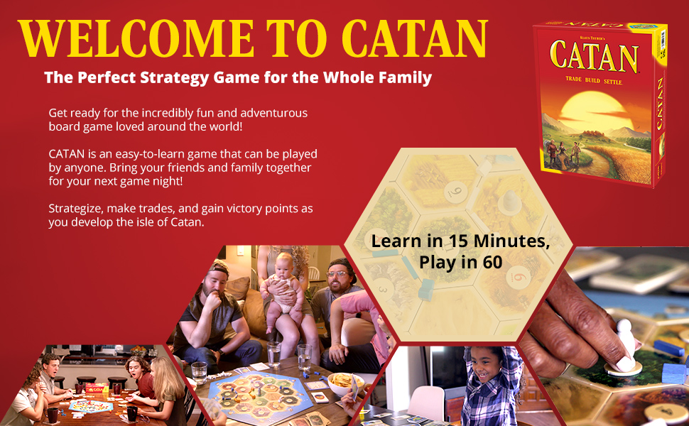 CATAN Board Game for Adults and Families