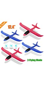 4 Pack Foam Airplane Toys