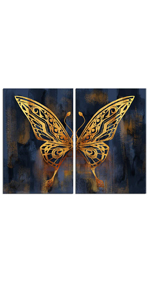 Gold Butterfly Painting Pictures