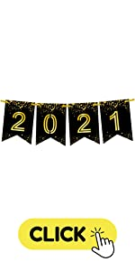 Black and Gold 2021 Banner