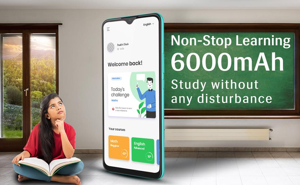 : Non-Stop Learning with 6000mAh battery