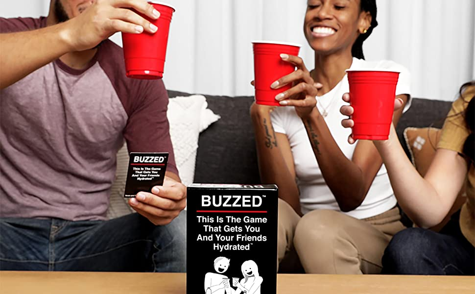 buzzed, card game, party game, friends, game night