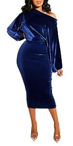 Vlelvet Dress For Women