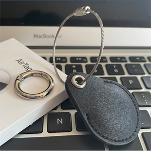 Provide spring ring and keychain to match with leather case