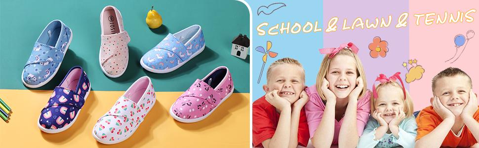 kids canvas shoes colorful choices