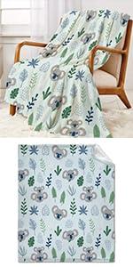 Cute Koala Throw Blanket Super Soft Warm and Comfortable